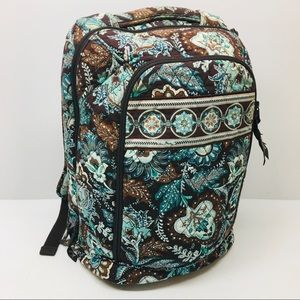 Vera Bradley Quilted Backpack 11x16x6 Brown Blue